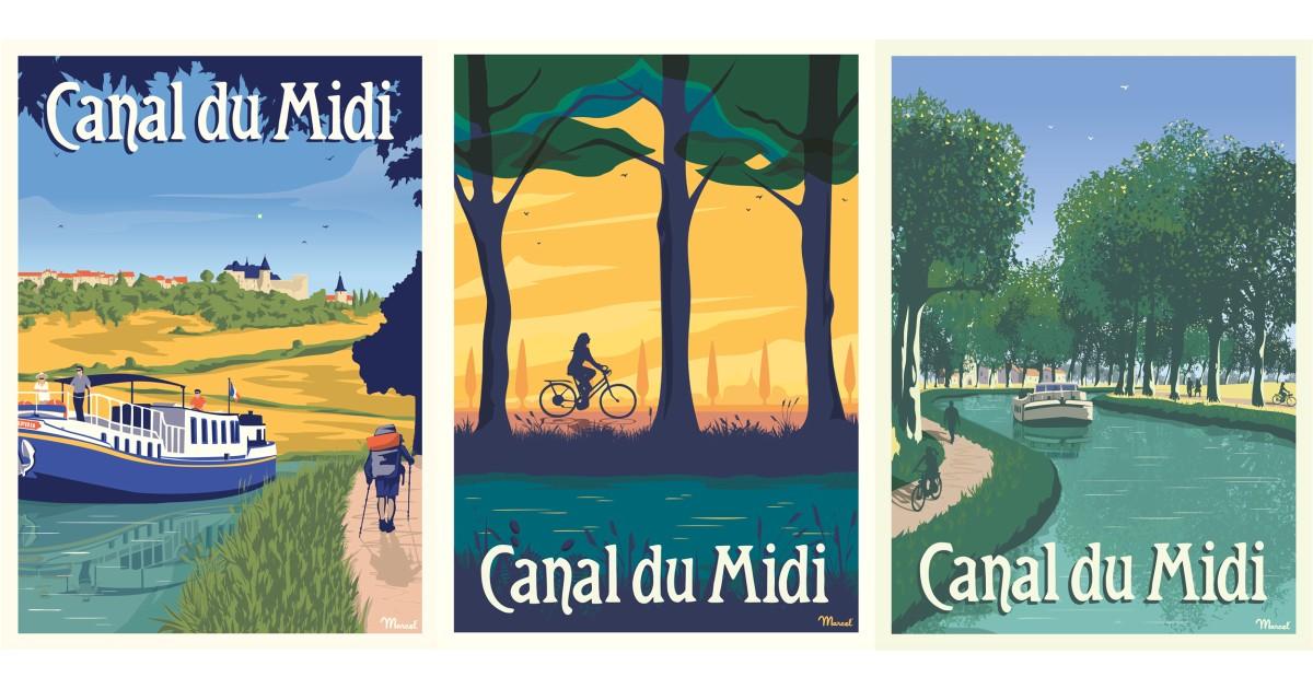 Des affiches vintages et solidaires du canal du Midi